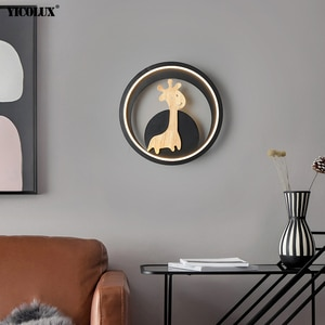 25cm Modern LED Wall Lamps For Bedroom Bedside Indoor Lighting Lights Cartoon Deer Luminaire Iron Body Fixtures AC85-260V Lustre