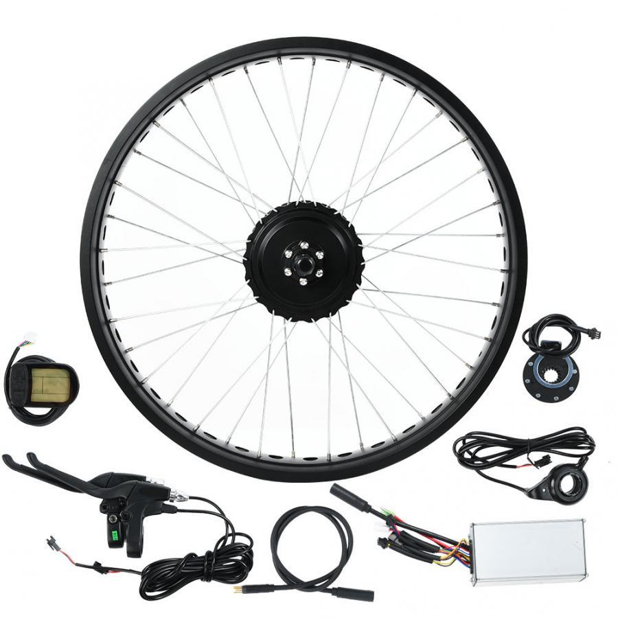 Profissional durável 48 v 750 w 20 polegada lcd5 instrumento roda ebike kit de conversão para scooter elétrico acessório