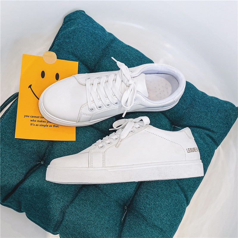 Women's Vulcanize Shoes Women Casual Sneakers Bonded leather White Sneakers,Breathable Sneakers,Comf