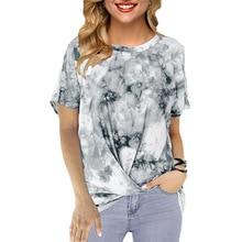 2020 nouveau été hauts 5XL grande taille femmes à manches courtes o-cou enchevêtrement T Shirt ample impression T-shirts occasionnels chemise Streetwear femme