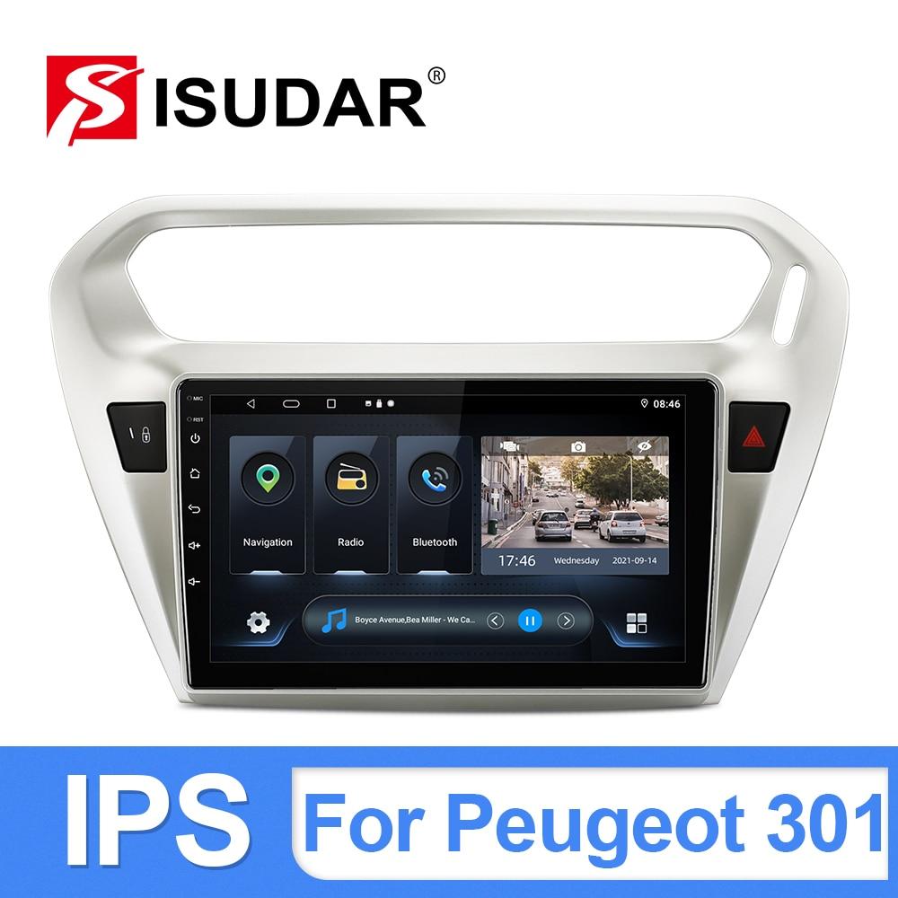 ISUDAR T54 Android 10 Car Radio For Citroen/Elysee/Peugeot 301 2013 2014- GPS Car Multimedia Player