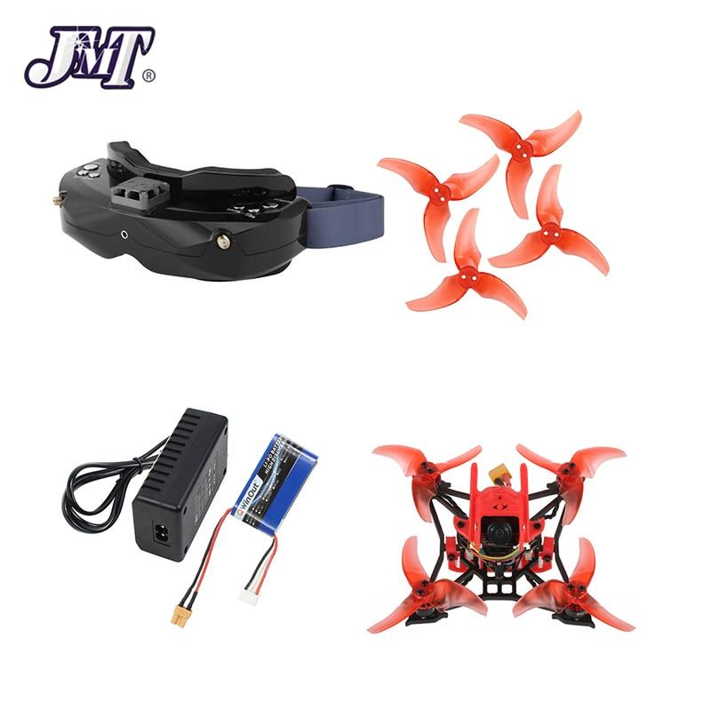 JMT T100 distancia entre ejes de 100mm 2-4 s DIY interior FPV Racing Drone con Skyzone 02X FPV gafas de EX1103 a 2-4 s 7000kv motores Frsky receptor