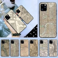 london country sketch city map phone case for iphone 6 7 8 plus 11 12 promax x xr xs se max back cover