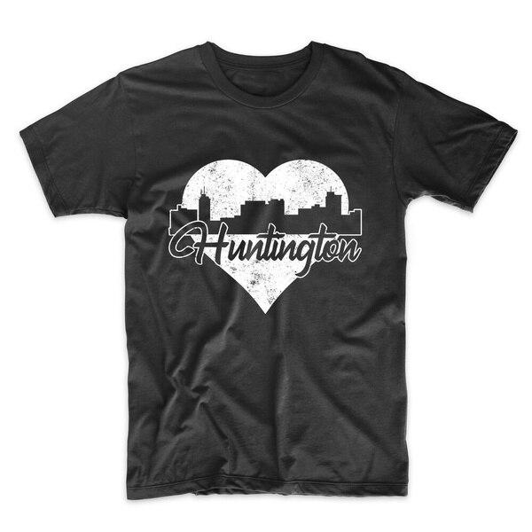 Los hombres de Huntington-Retro Huntington West Virginia de camiseta corazón