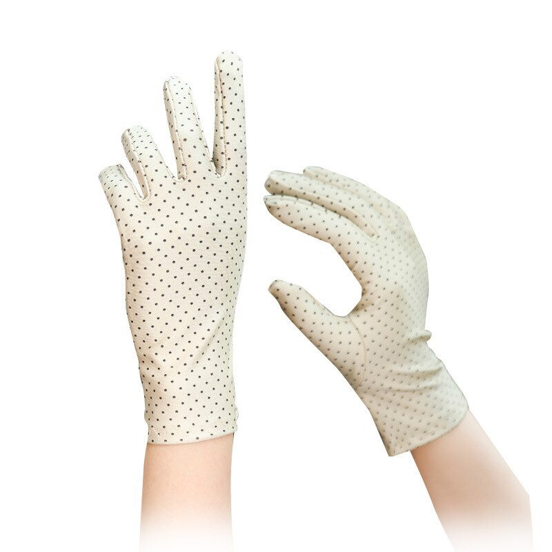 Sun Protection Driving Short Thin Mittens Wrist Gloves Dot Women Gloves Women's Fashion Cotton Summer Gloves Driving Gloves