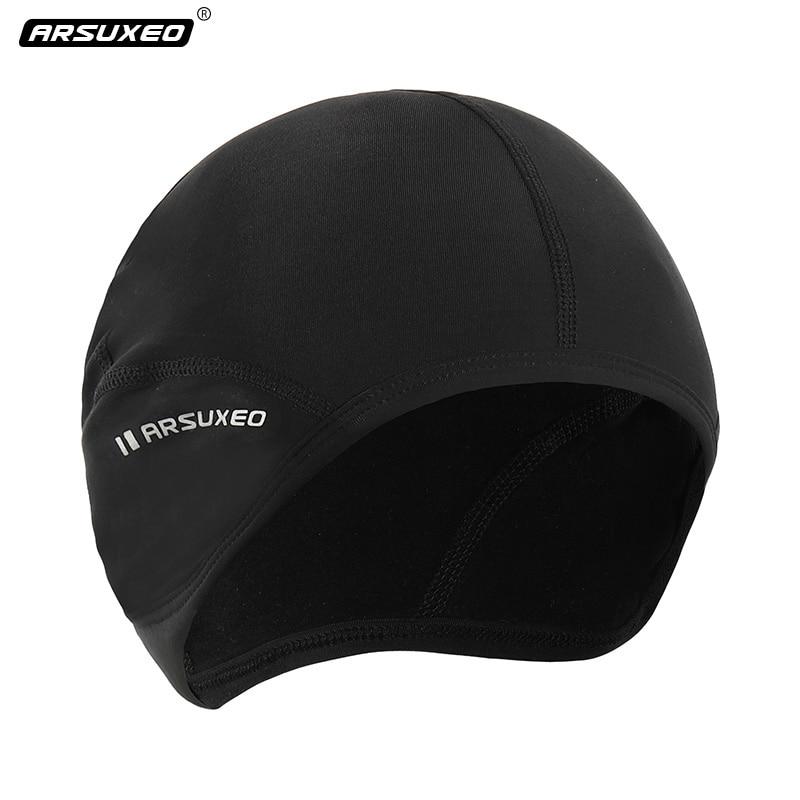 AliExpress - Winter Windproof Men's Cycling Cap Protection Ear Warm Up Thermal Fleece Running Cap Head Warmer Elastic Outdoor Sports Caps