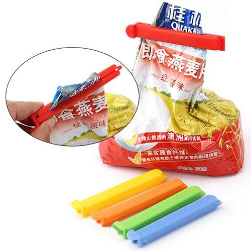 Nuevo 5 uds casa Clip de cierre de alimentos bolsas de sellado de almacenamiento de plástico sellado bielas pinzas selladoras Puteaux.