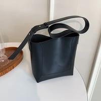 2021new retro messenger bag high quality wide shoulder strap large capacity one shoulder student class bag female bag bucket bag