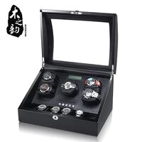 watch winder box case storage shaker display automatic wooden five motors 56 slots watch winder rotation holder organizer piano