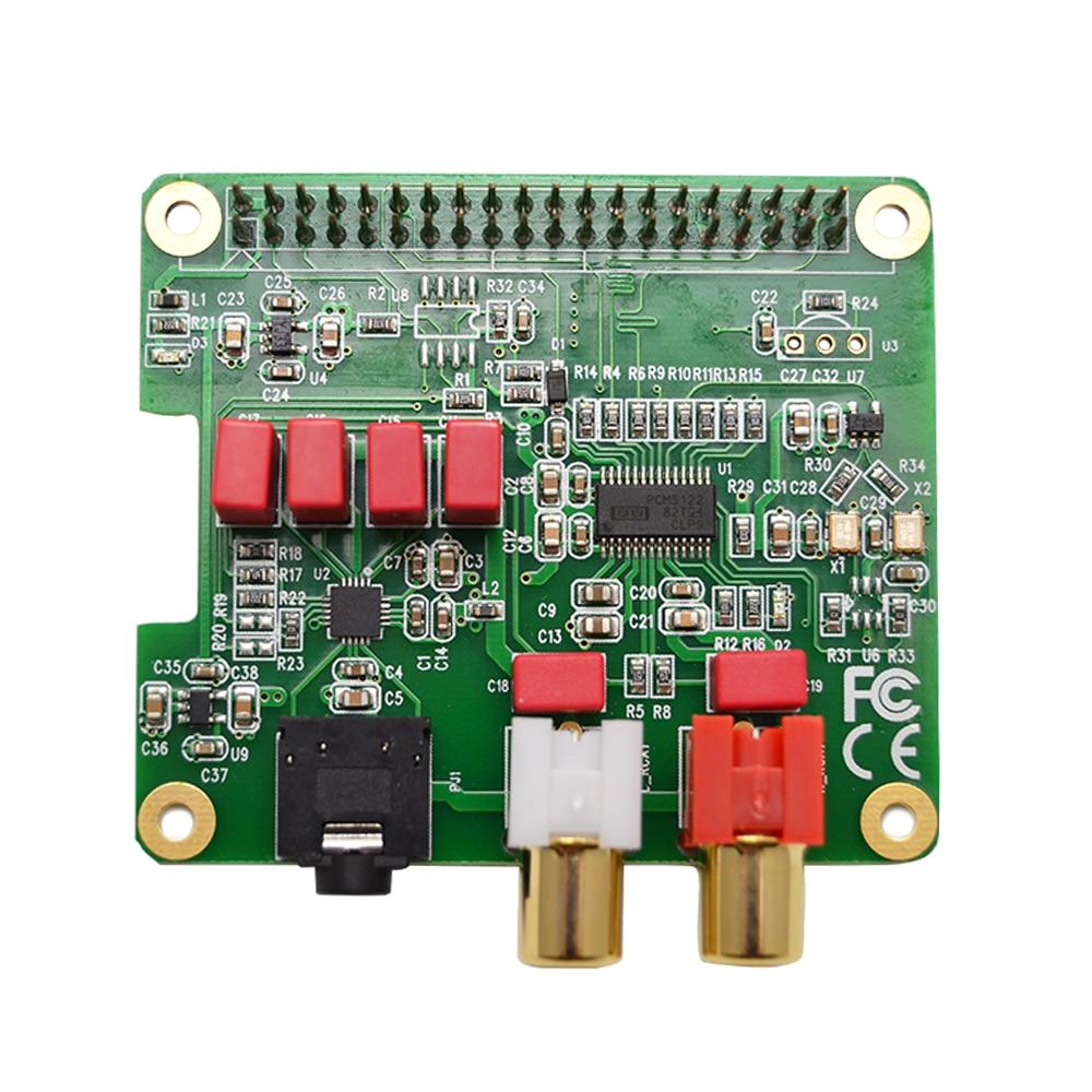 PCM5122 التوت بي HiFi DAC قبعة PCM5122 HiFi DAC بطاقة الصوت لوح تمديد لتوت العليق بي 4 3 B + Pi صفر ث