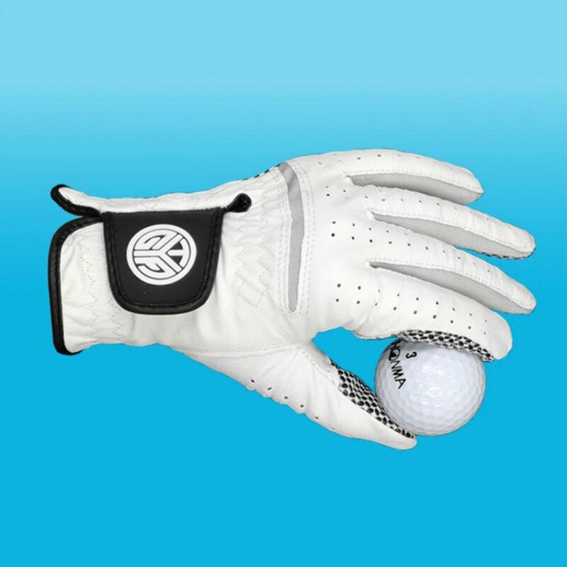 Luvas de golfe dos homens Mão Direita Esquerda Macio Respirável Pele De Carneiro Com Luvas Anti-slip Luvas Grânulos de Golfe Acessórios de Golfe Aderência