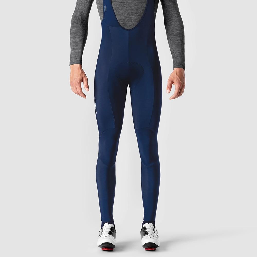2021 NAVY Winter MEN'S Cycling Bib Pants Winter Tights with pad Warm Cycling Bib Trousers Thermal Fleece Mountain Bike Pants