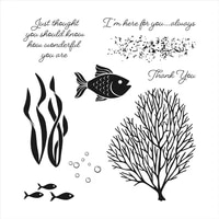 new arrivals 2021 metal cutting dies and scrapbooking for paper making fish coral clear stamp set embossing frame card