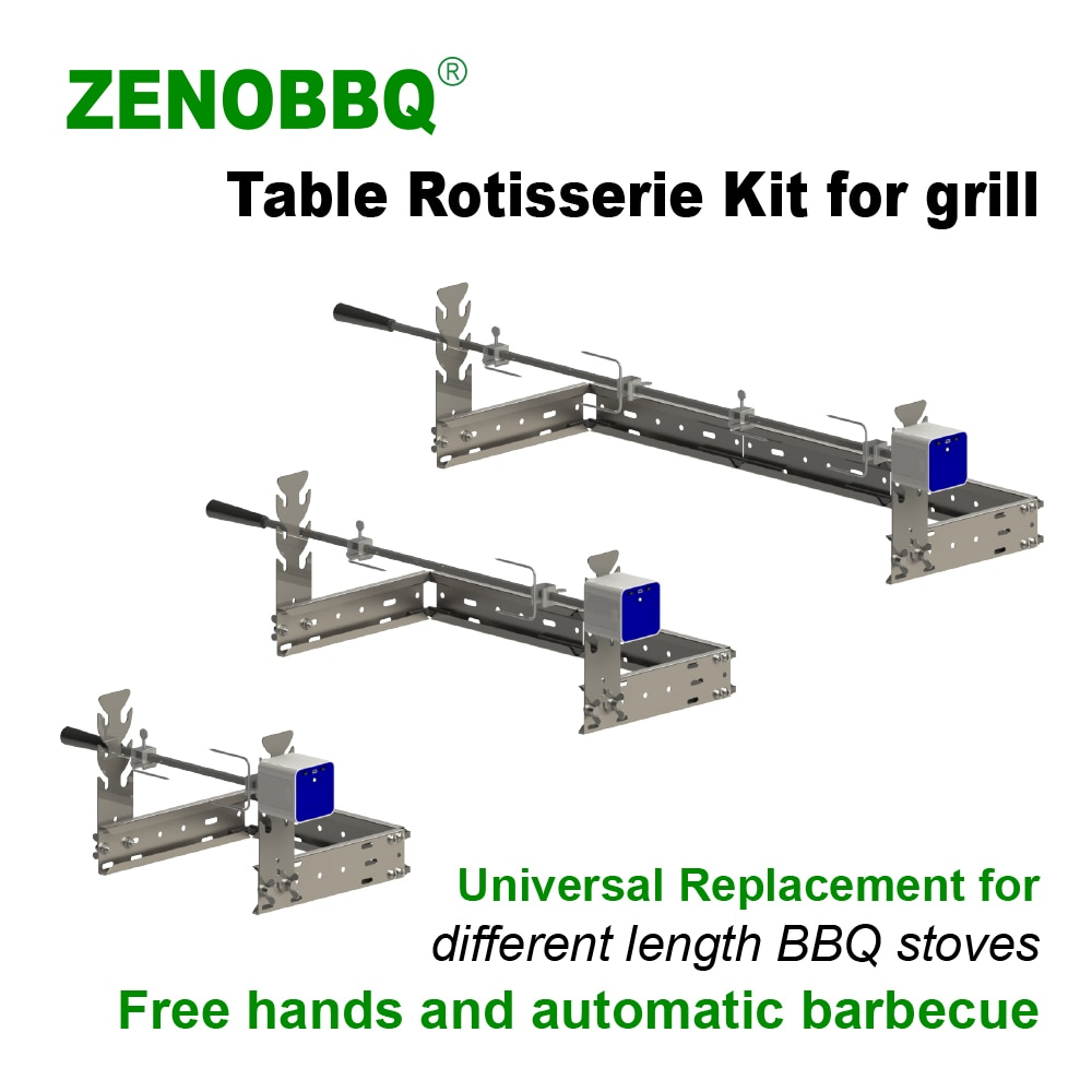 ZENOBBQ Rotisserie Kit Universal Replacment Grills Table Windproof Electric Automatic USB Motor Camping BBQ Roaster Accessories