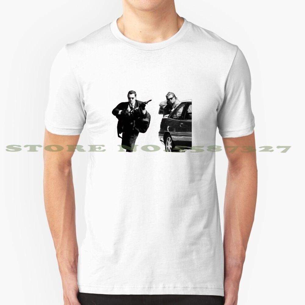 Camiseta clásica De moda Heist, camisetas Heat Michael Mann Robert De Niro Al Pino, película clásica, Escena De robo