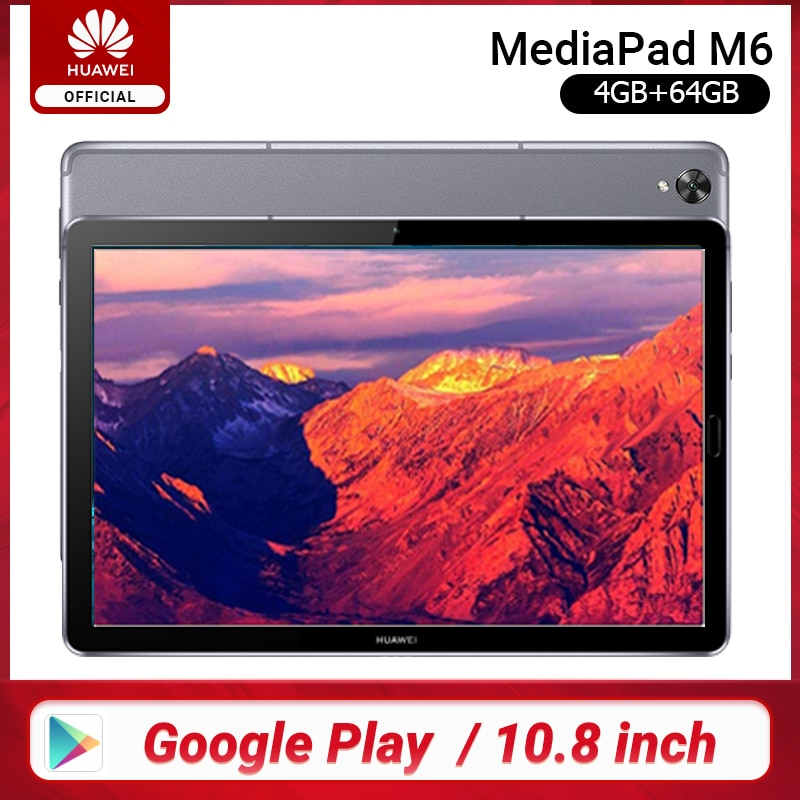 Original Huawei Mediapad M6 10,8 zoll 4GB 64GB WIFI LTE Kirin 980 Octa-core Android 9,0 Tablet Typ-C Google spielen GPU Turbo 3,0