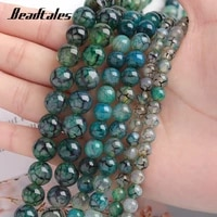 black line natural stone dragon grain agate green beads loose beads for jewelry diy making bracelet 6810mm beadtales