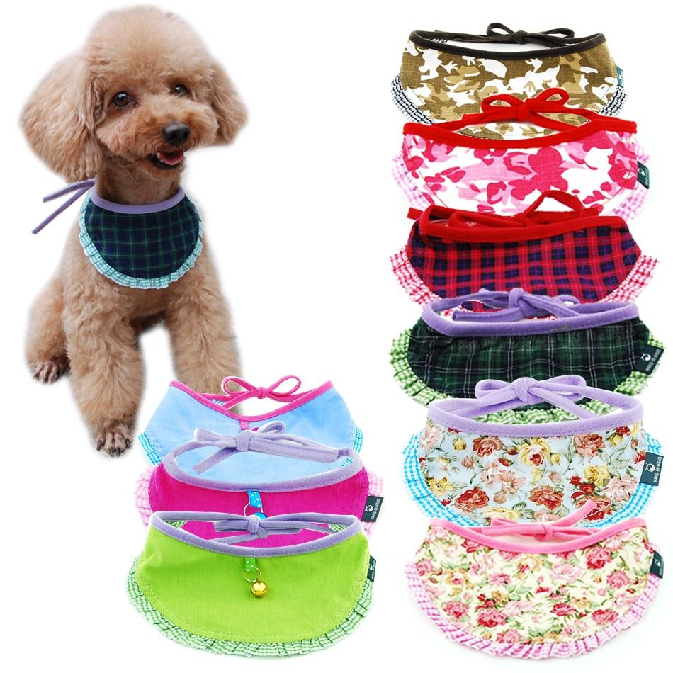 Perro gato Bandana a cuadros ajustable bufanda lavable Collar de correa para gatos cachorros accesorios para mascotas pequeños medianos grandes suministros para perros