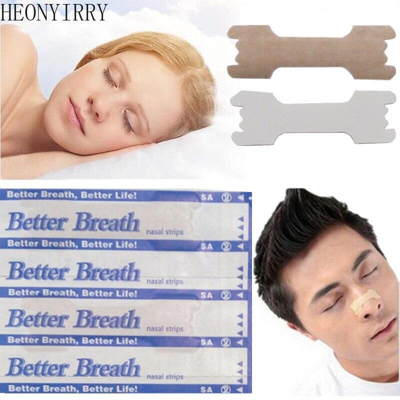 50 pçs respiram tiras nasais maneira direita parar ressonar anti ressonar tiras mais fácil melhor respirar cuidados de saúde anti snurk Sono e ronco    -