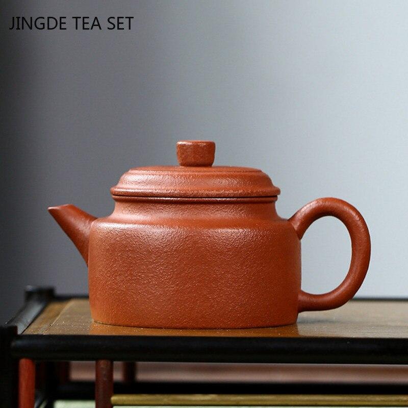 Yixing أصيلة أواني الشاي الأرجواني الطين إبريق الشاي غلاية خام خام اليدوية الشاي التعادل قوانيين حفل الشاي الصيني Gifts150ml