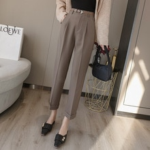 Yg Brand Women's Wear, 2021 Spring And Summer New Mid Waist Slim Casual Suit Pants, Drooping Harem P