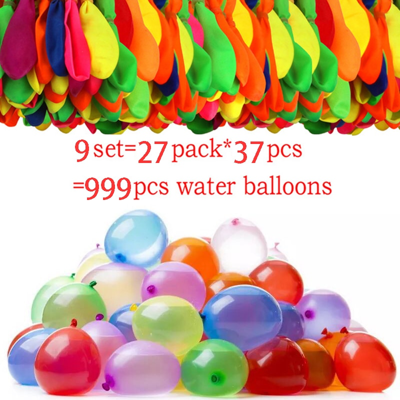 999 Pcs Water Bomb Balloons Water Balloon Summer Play with Water Bombs Balloon Swimming Pool Game Kids Summer Gift Dropshipping