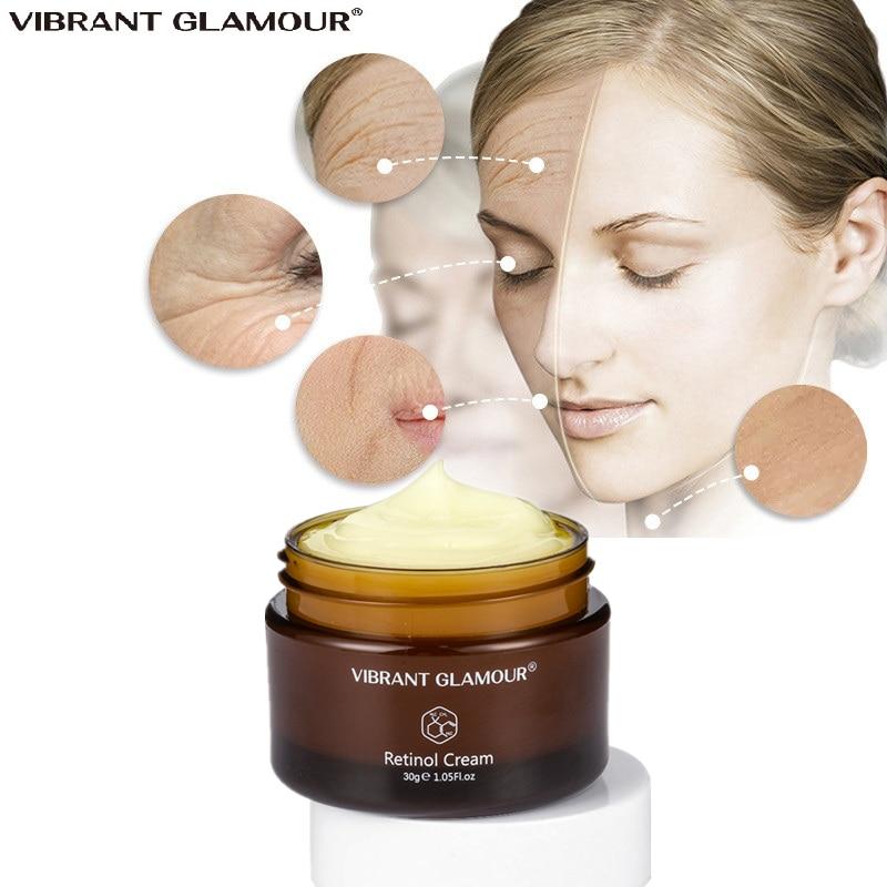 VIBRANT GLAMOUR Retinol Face Cream Anti-Aging Whitening Moisturizing Remove Wrinkles Firming Lifting Day Cream Skin Care 1pcs недорого