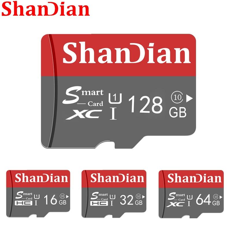 SHANDIAN Smart SD Card 32GB High Speed Class 10 16GB/64GB Real Capacity 128GB Mini SD Memory Card TF