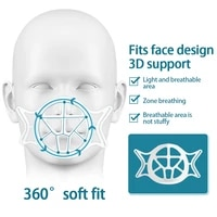 1 5 pieces 3D Respirant Masques Filtres Titulaire Silicone Masque Coussin Interieur en Charge Laide Coussin Support Aider Stand Maison Fournitures