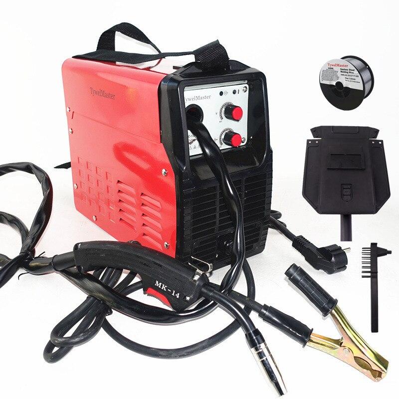 Gasless Welding Machine 120A 230V Inverter IGBT Self Shield E71T-GS Flux Cored Wire No Gas MIG Welder