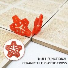 50pcs 1-3mm carreaux muraux localisateur décart en céramique peut réutiliser les outils de Construction de plancher de pompe à coulis manuelle décart de système de nivellement de tuile croisée