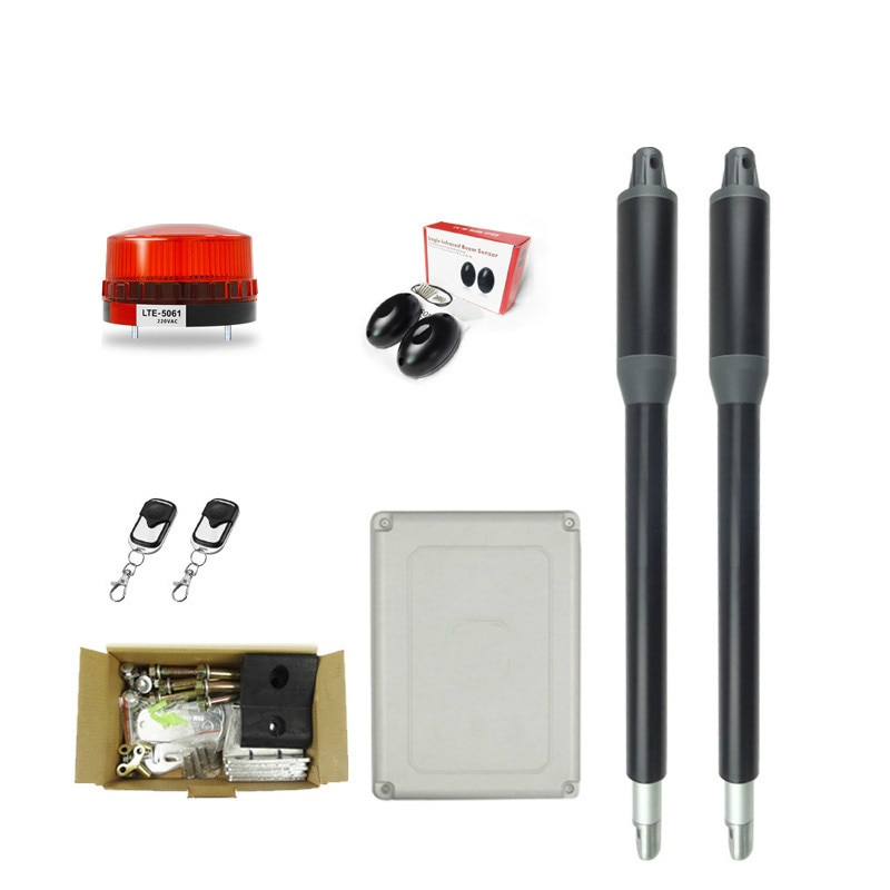 Automatic swing door gate opener Electric double arm opener Operator linear actuator with remote control warning light optional automatic swing door gate opener electric double arm opener operator linear actuator with remote control warning light optional