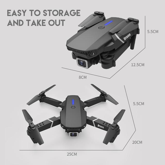 LSRC 2021 New Quadcopter Drone E525 HD 4K 1080P Camera and WiFI 8