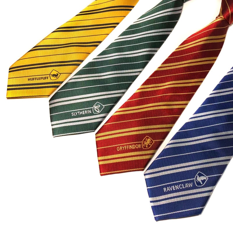 Новый галстук мужской волшебный школьник Рождество Косплей Костюм Халат Аксессуары Логотип официальное платье мужской съемный воротник