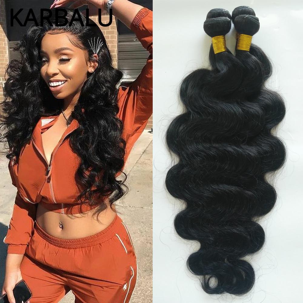 Karbalu Human Hair Bundles 28 30 32 34 inch Brazilian Hair Bundles Brazilian Body Wave 1/3/4 Bundles