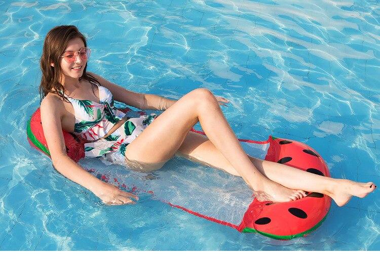Estilo de fruta de agua plegable Silla de cubierta flotante inflable fila flotante colchón de aire cama de agua.