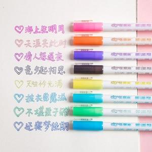 8 Colors Double Line Marker Pen 1.0mm Fineliner Outline Pen Lettering Calligraphy Set Drawing Art Marker Pen