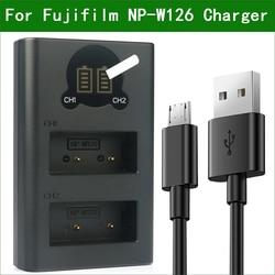 NP-W126 W126S BC-W126 Carregador Dual USB para Fujifilm X100F X100V X-PRo1 X-PRo2 X-A1 X-A2 X-A3 X-A5 X-A7 X-A10 BC-W126