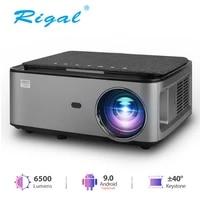 Rigal RD828 1080P Videoprojecteur Full HD LED WIFI Android 9 0 PROJECTEUR Natif 1920X1080P 3D Home CINEMA Telephone INTELLIGENT Videoprojecteur