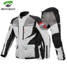 MOTOBOY Motorcycle Jacket and Pants Motorcycle Off-road Waterproof Warm Cordura Textile Suit Motorbike Armours Windproof Jacket