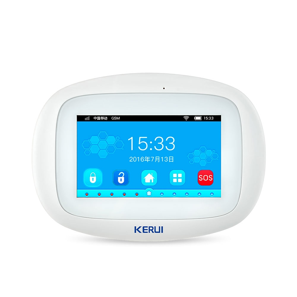 KERUI K52 Wi-Fi GSM сигнализация панель 4,3 дюймов TFT цветной дисплей безопасности дома умный жилой беспроводной хост охранной сигнализации