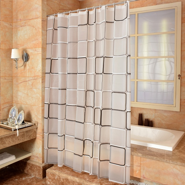 Bathroom Shower Curtain 3D Waterproof Mildew proof PEVA Bath Curtain Shower Curtains Environmental Toilet Door Curtain