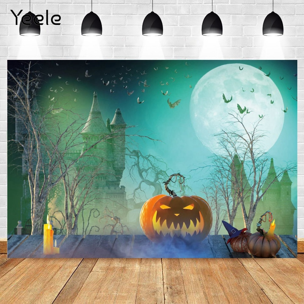 yeele photophone for wedding party chic wall flower pattern photography backdrops photographic background for photo studio props Yeele Halloween Photography Backdrops Castle Pumpkin Bat Moon Scene Baby Photographic Background Photo Studio Vinyl Photophone