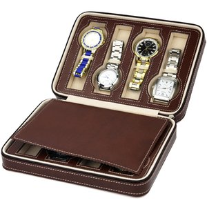 Watch zipper  pack 8-bit watch bag  watch box leather  portable zipper hand.