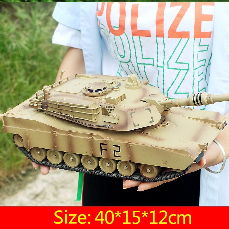 Remote Control RC Battle Tank M1A2 10 Type 330 Degree Rotate Simulation Sound Light Independent Suspension Wireless Control Tank enlarge