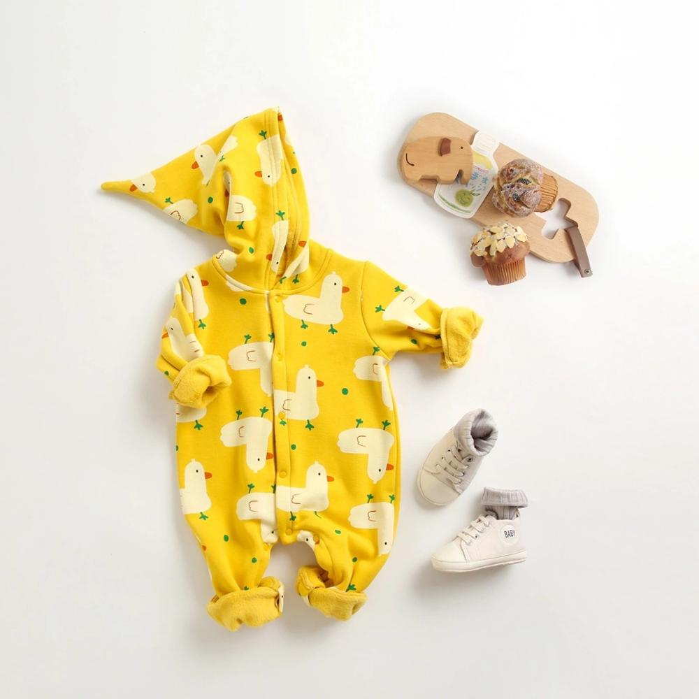 Best-selling boutique New Autumn 0-3T Baby Boy Girls Hoodies Body Suit Baby Clothing Fashion Winter long Sleeve Cartoon Jumpsuit