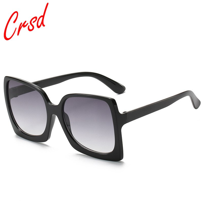 CRSD 2020 Women Oversized Sunglasses Luxury Designer Plastic Female Big Frame Gradient Sun Glasses U
