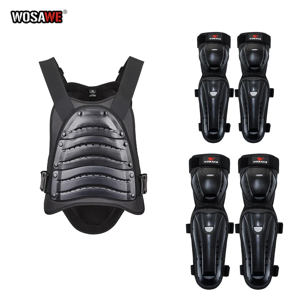 WOSAWE Motocross Protective Armor set Back Protector motorcycle Armor Guard Racing Moto Armor Protective Gear Adult