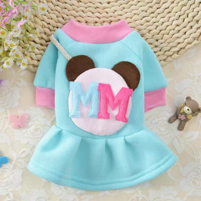 New Style Skirt Dog Clothes Teddy Thick Cat Small and Medium-sized Dogs Pet Puppy Bichon Clothing Autumn and Winter Cute Routine