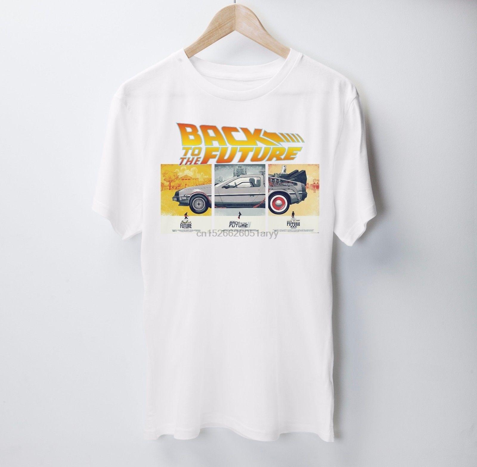 Camiseta de vuelta al futuro Michael J. Camisetas de manga corta de algodón con cuello redondo con 100% de regalo de zorro Cristóbal Nerd Geek